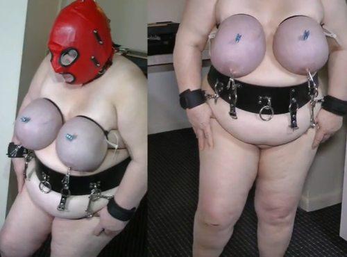 Imagen Experimentación BDSM con las tetazas de una gorda sumisa